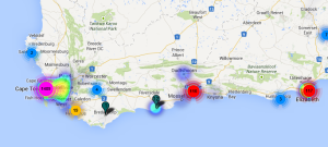 western cape heat map