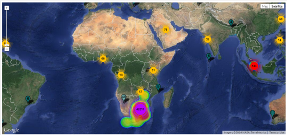 geo heat map afroca