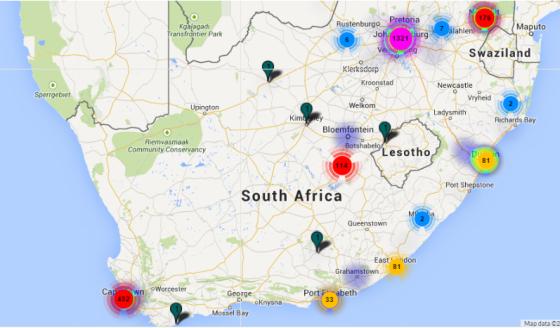 geo heat map